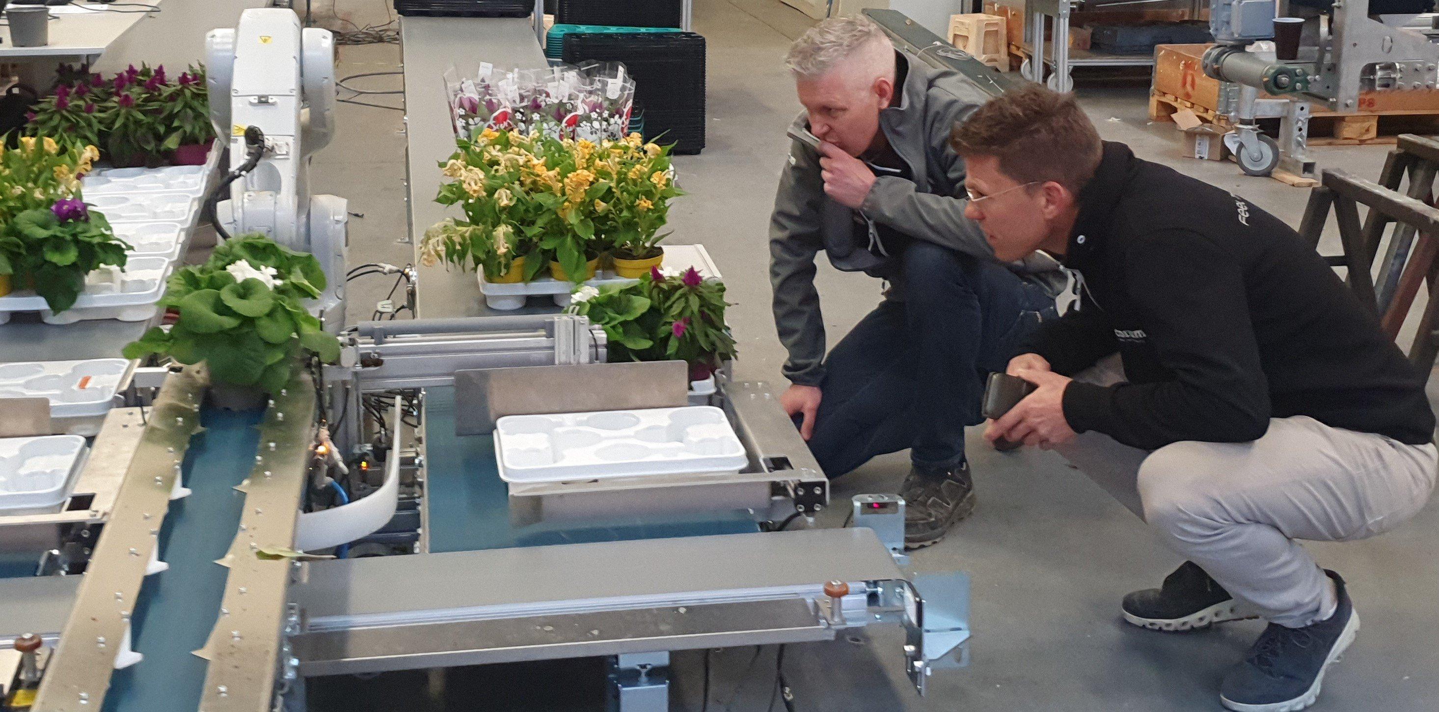 Inspectie van de robotarm